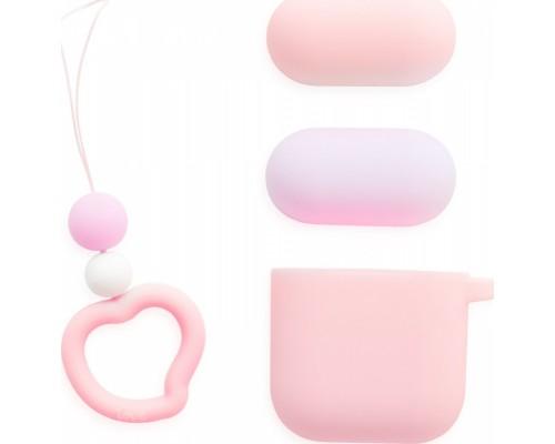 Love Series с брелком для Apple Airpods (розовый, сиреневый)
