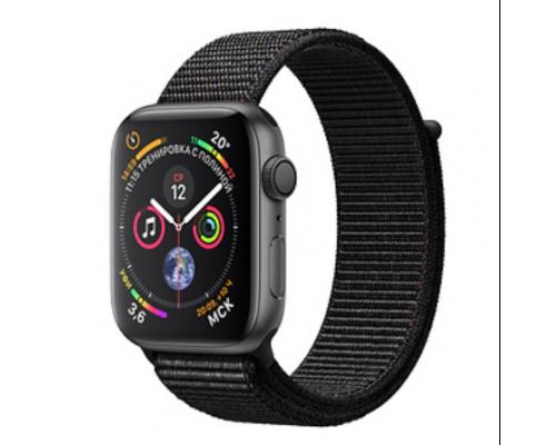 Apple Watch Series 4 40mm Space Gray Aluminum Case with Black Sport Loop