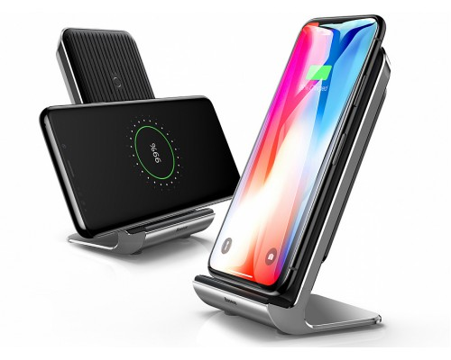 Baseus Vertical Desktop Wireless Charger Black
