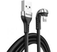 Green U-shaped lamp Mobile Game Cable USB For iP 2.4A 1M Черный