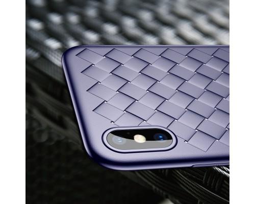 Чехол Baseus BV Weaving Case for iphone X blue