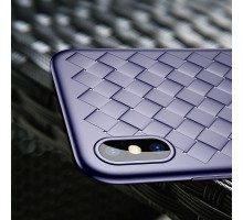 Чехол Baseus BV Weaving Case for iphone X blue