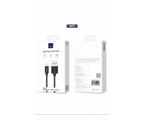 Wiwu Elite data cable Lightning to USB 1.2m Black